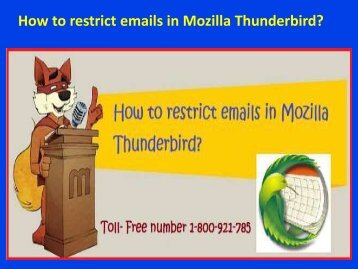 How to restrict emails in Mozilla Thunderbird