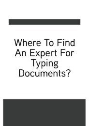 Where to find an expert for typing documents?