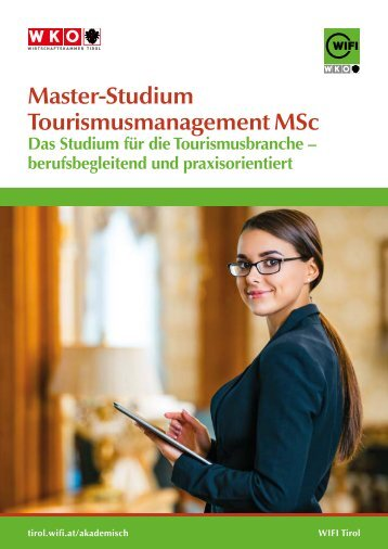 Master-Studium Tourismusmanagement MSc