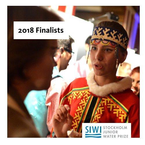 2018 Stockholm Junior Water Prize Finalists