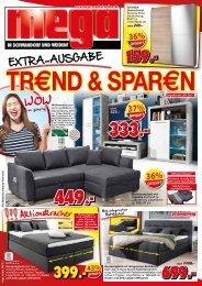 Extra-Ausgabe: Trend & Sparen - mega Möbel in Schwandorf und Weiden