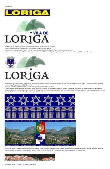 History of Loriga by the historian Antonio Conde-História de Loriga pelo historiador António Conde