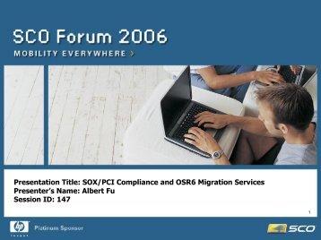 SOX Compliance PS Services - SCO
