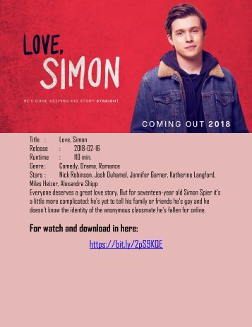 012 yESMovies- Watch Love Simon Online streaming HD in Now