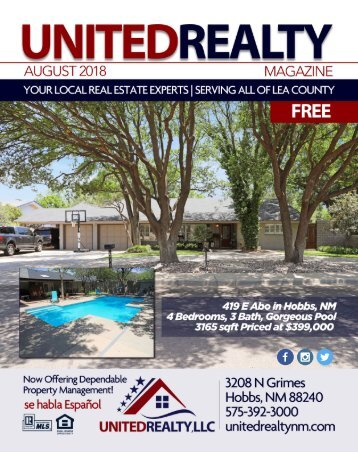 United Realty Magazine August 2018