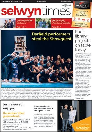 Selwyn Times: August 08, 2018
