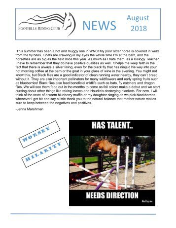 August 2018 FRC Member Newsletter