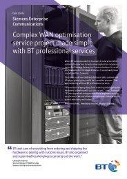 Siemens case study - Products & services - BT.com