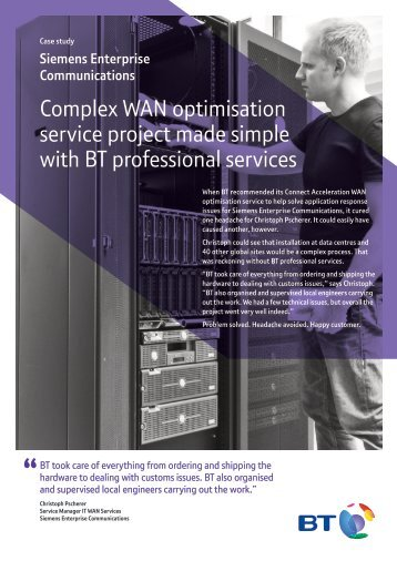 Siemens case study - Products & services - BT.com