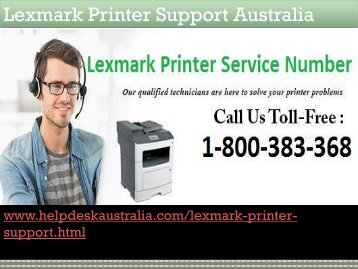 Driver Installation Problem Instant Solution Lexmark Printer Support Number Australia