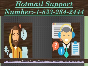 Resolve All Query Contact 1-(833)-284-2444 Hotmail Support Number