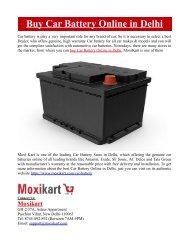 Buy Car Battery Online in Delhi