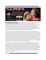 Improve Your Erection Quality with Thunder Rock Male Enhancement