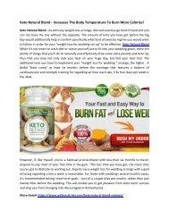 Keto Natural Blend - Advanced Weight Loss Formula To Burn Extra Fat!