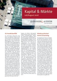Kapita & Märkte: Ausgabe Juli/August 2018