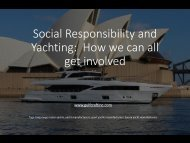 Social Responsibility and Yachting - How we can all get involved