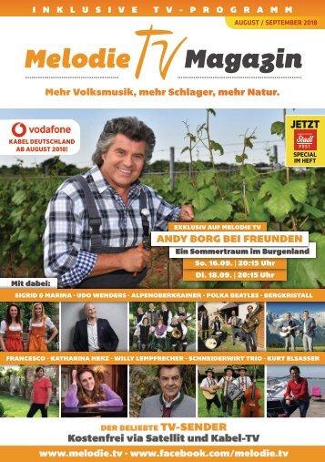 Melodie TV Magazin 08 09 2018 40 Seiten