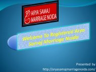 Arya Samaj Marriage Noida