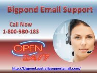 Solve Login Error Via Bigpond Email Support 1-800-980-183