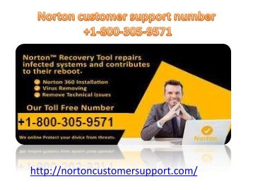 Get solution Norton customer support Number +1-800-305-9571