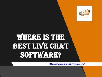 How To Find The Right Live Chat Software For Your Specific Service