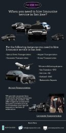 When you need to hire limousine service in San Jose?