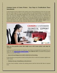 Common Issues of Canon Printer  Easy Steps to Troubleshoot Those Immediately