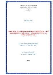THẨM ĐỊNH QUY TRÌNH ĐỊNH LƯỢNG GIBBERELLIC ACID BẰNG PHƯƠNG PHÁP SẮC KÝ LỎNG HIỆU NĂNG CAO VỚI ĐẦU DÒ UV-VIS