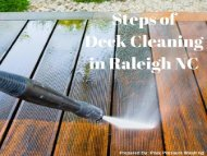 Steps of Deck Cleaning in Raleigh NC by Peak Pressure Washing