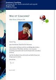 Regina Zeh - Was ist Coaching?