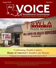The Voice of Southwest Louisiana August 2018 Issue