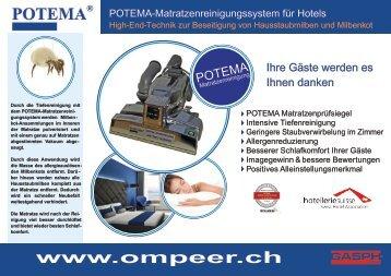 Potema Hotelflyer 2018