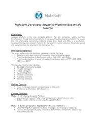 Introduction to Mule ESB Fundamentals - MuleSoft