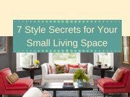 7 Style Secrets for Your Small Living Space