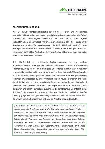Architekturphilosophie - HUF HAUS
