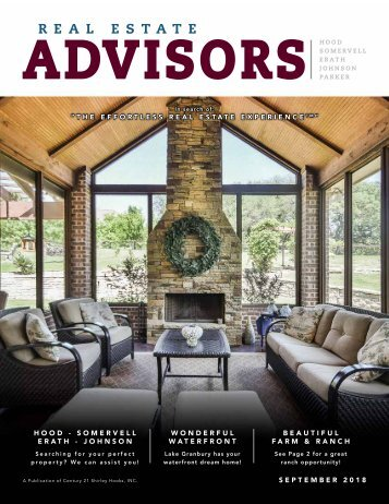 The Real Estate Advisors Magazine - Sept 2018