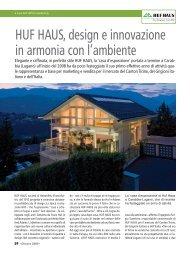 HUF HAUS, design e innovazione in armonia con l'ambiente