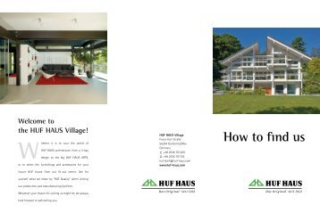 How to find us Whether - HUF HAUS