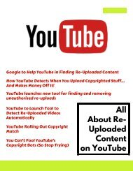 All About Re-Uploaded Content on YouTube