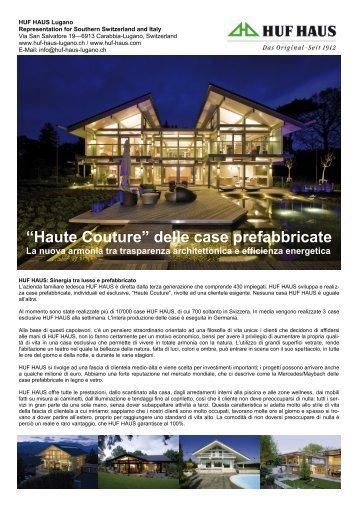 """""""Haute Couture"""" delle case prefabbricate La nuova ... - HUF HAUS"""