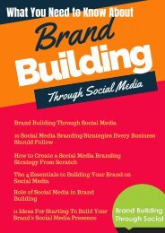 What You Need to Know About Brand Building Through Social Media