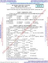 Tập 20 đề thi HSG cấp huyện môn tiếng anh lớp 9 (có đáp án chi tiết)