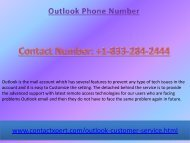Dial 1-(833)-284-2444 Outlook Phone Number How To Reset Your Password