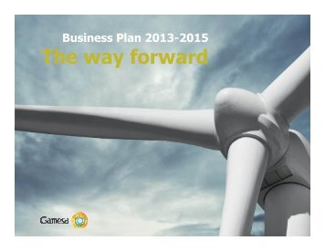Business Plan 2013-2015 - Gamesa