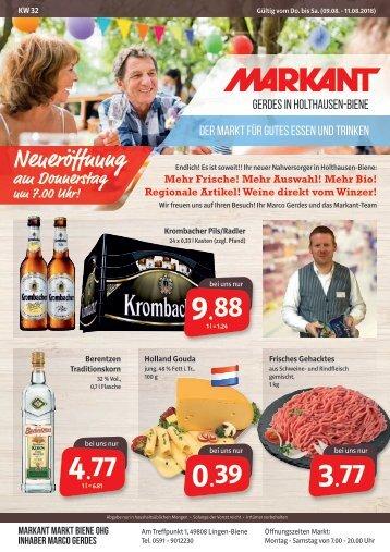 Eröffnungshandzettel Markant Gerdes in Holthausen-Biene