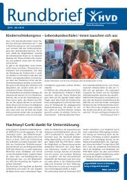 Rundbrief - Humanistischer Regionalverband Märkisch-Oderland