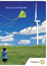 Informe de Sostenibilidad 2008 - Gamesa