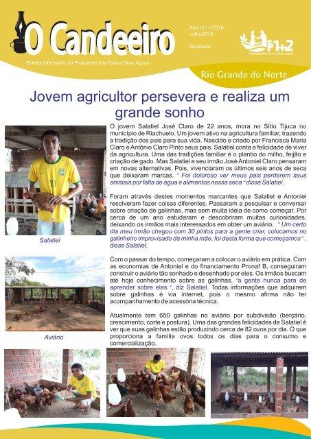 Jovem agricultor persevera e realiza um grande sonho