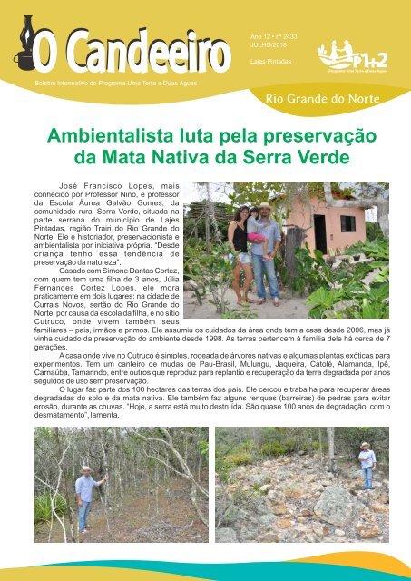 Ambientalista luta pela preserva??o da Mata Nativa da Serra Verde