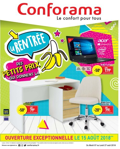 Conforama catalogue 7 août-27 août 2018